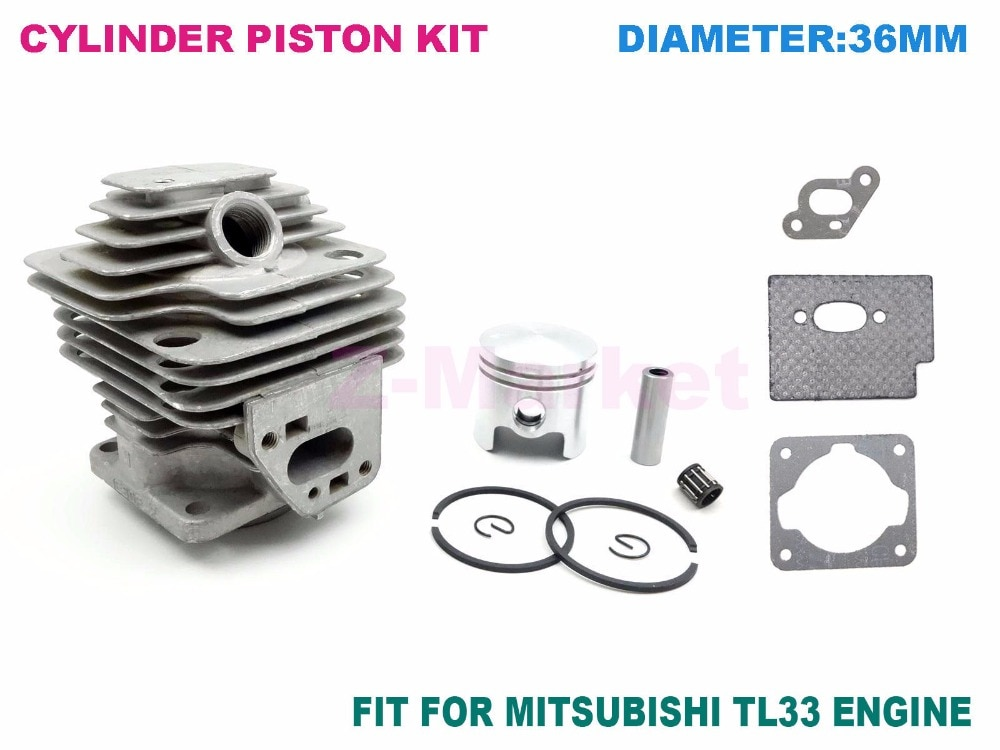 Cylinder Piston kit 36MM for MITSUBISH TL33 Brush Cutter.Grass Trimmer.Lawn Mower. Gasoline Engine Garden Tools Spare Parts