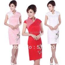 Shanghai Story U collar Qipao cheongsam dress vintage Flower printed Cheongsam Dress Chinese traditional dress 3 color