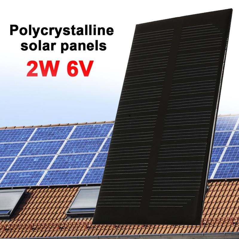 2W 6V Solar Panel Durable Solar Generator Solar Light Outdoor DC Output Waterproof Panel