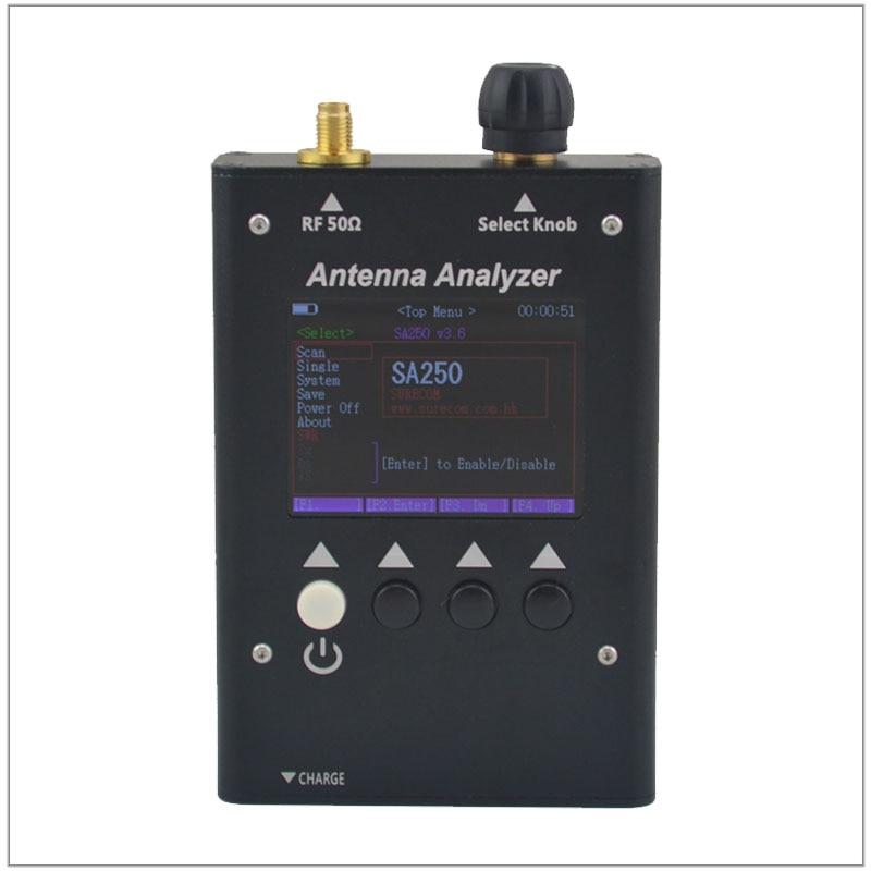 SURECOM SA-250-analizador de antena gráfico a color, analizador de antena, SA250, 132-173...