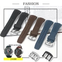 black 26mm nature soft durable rubber stainless steel pin buckle strap fit for japan velaturasrh scpc077 cpc077 watchstraptool