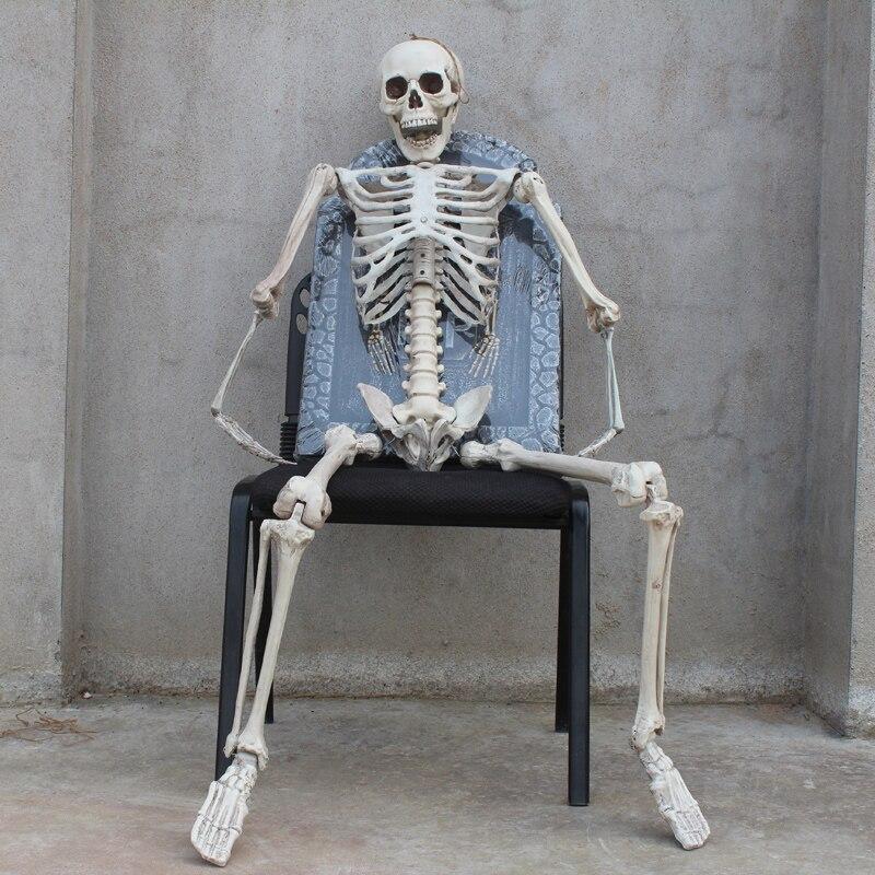 Accesorios de cámara de juguete de terror de Halloween casa fantasma imitación esqueleto Marco de hueso esqueleto tumba decoración de Halloween regalos de mordaza