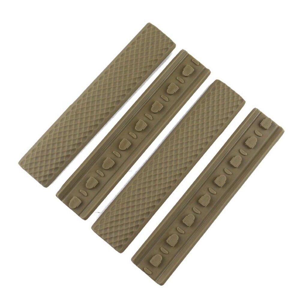 4 шт. Тактический KeyMod резиновая Мягкая направляющая крышка Тип Черный DE|rail cover|cover