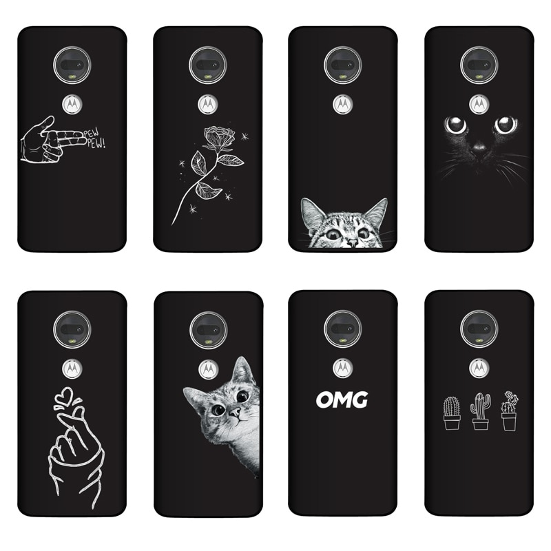 QAQsam de silicona suave para Motorola Moto G7 G 7 Plus Play cubierta pintura para Motorola Moto G7 jugar caso Coque
