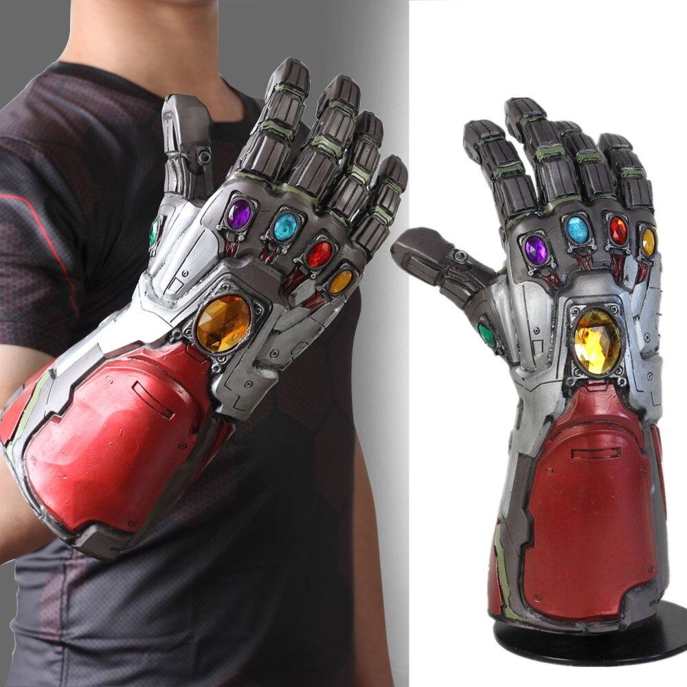Iron Man Guantelete del Infinito el juego final superhéroe de Marvel Thanos Guantelete del Infinito guantes de látex para Cosplay