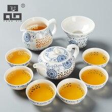 TANGPIN théière en céramique bleu et blanc   Exquise bouilloires tasse de thé, porcelaine chinois kung fu service à thé, verres