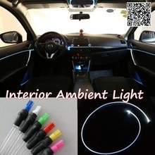 For hyundai ix35 2010-2015 Car Interior Ambient Light Panel illumination For Car Inside Cool Strip Light Optic Fiber Band