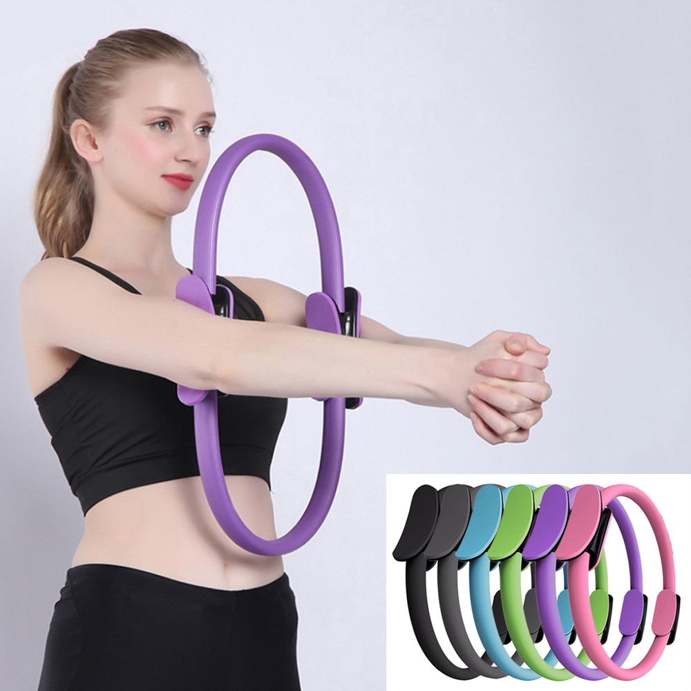 Yoga Pilates Equipment Ring Pilates Magic Circle Dual Grip Yoga Gym Ring Exercise Fitness Body Building Training Yoga Accessorie