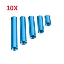 10 pièces/ensemble M3AR7 M3 10/20/25/30/35mm bleu en alliage daluminium