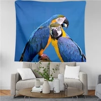 plstar cosmos tapestry parrot flower 3d printing tapestrying rectangular home decor wall hanging new style 3