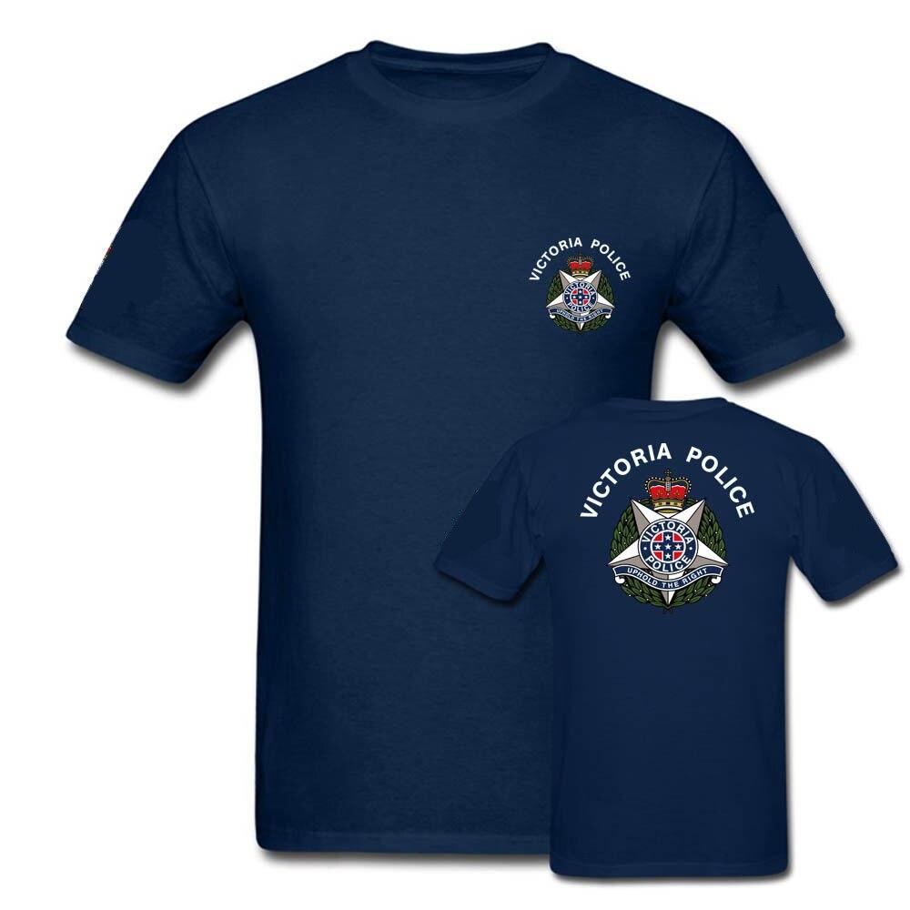 Doble cara policía Victoria hombres azul marino T Shirt estampado ejército camisas más nuevas camisetas estampadas hombres verano sudaderas con capucha