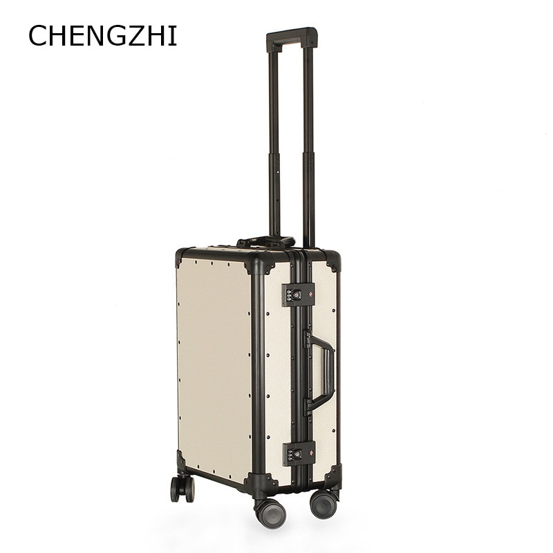 """CHENGZHI 20 """"de 24 pulgadas de alto grado de maleta de viaje resistente al desgaste de rueda de equipaje universal de marco de aluminio cubierta de carrito"""