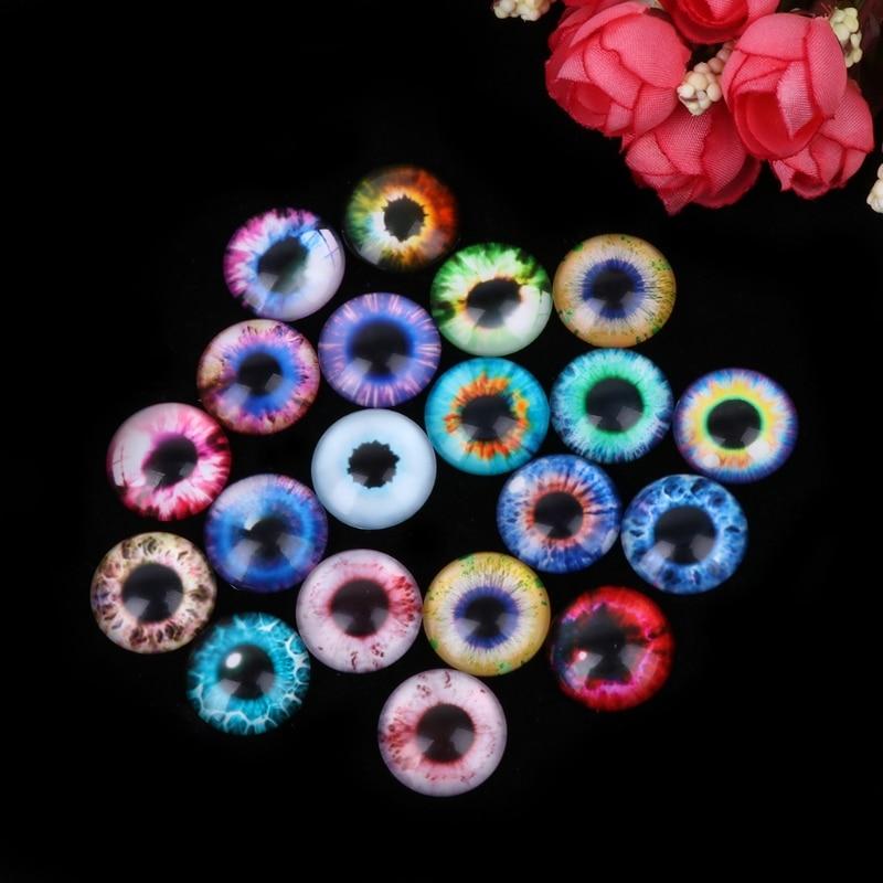 20Pcs Glass Dolls Eye DIY Handcraft Animal Eyes Jewelry Accessories 10/16/20mm MAY10 dropship