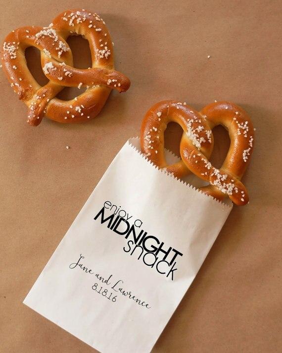 Bolsas personalizadas para recuerdos de pasteles, bodas, bodas, baby Shower, papel Kraft, panadería, postres, galletas, regalos, bolsas de favores impresas