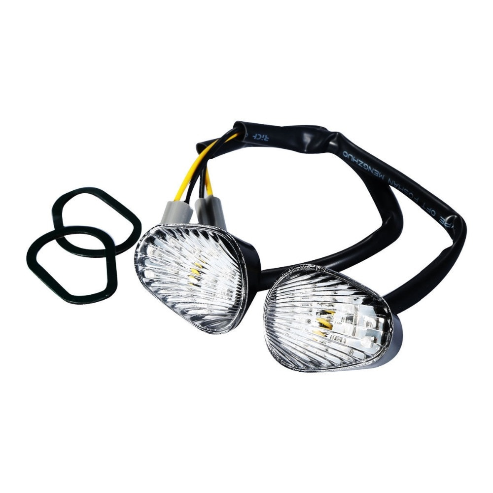 Indicador de luz intermitente LED transparente/ahumado para motocicleta Yamaha FZ09 MT09 2014-2016 FZ07 MT07 2015-2017 Accesorios