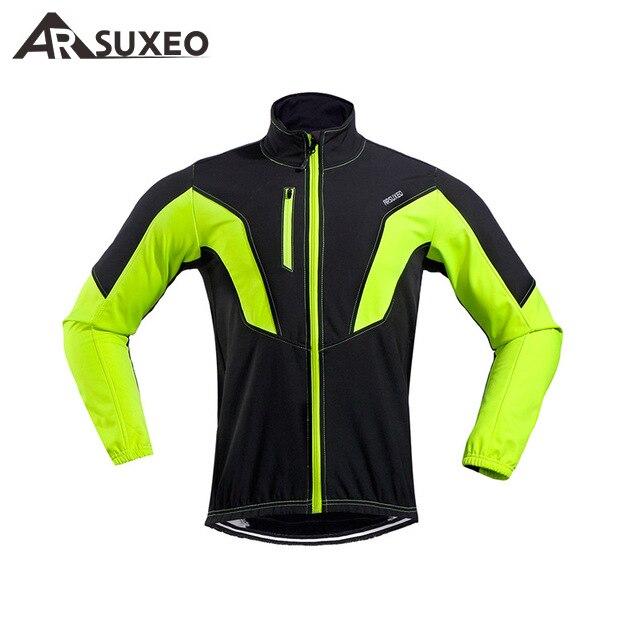 ARSUXEO, chaqueta de Ciclismo, Invierno térmico, cálido, Polar, MTB, chaqueta de bicicleta, Ciclismo, resistente al viento, impermeable, abrigo de Ciclismo