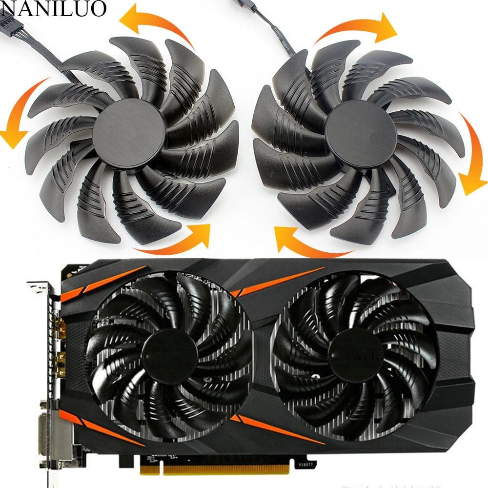 88MM PLD09210S12HH T129215SU 4Pin Cooler Fan For Gigabyte GeForce GTX1060 1070 GTX 1050ti GTX 960 RX570 RX470 Graphics Card