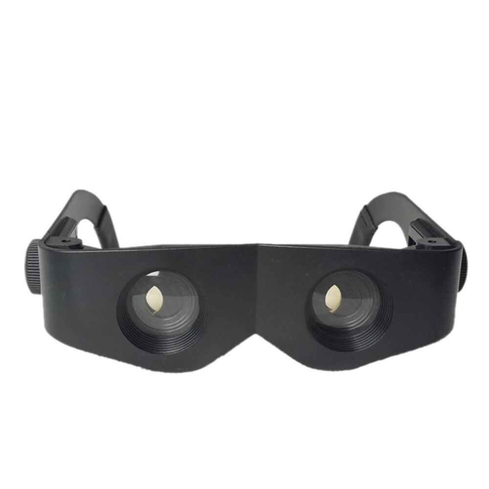Óculos portáteis estilo lupa binóculos telescópio para pesca caminhadas concerto de alta qualidade preto