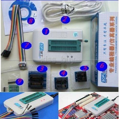 Universal PROGRAMADOR USB Flash EEPROM, SPI BIOS 24/25/BR90/93 5000 + CHIPS SP8-A