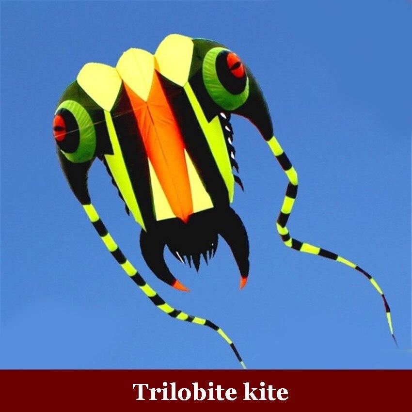 1PC 16 sqm Trilobite Kite al aire libre deportes delfines cometas fácil de volar juguetes voladores sin marco, cometa suave, mostrar cometa, levantador