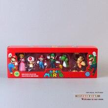 Super Mario Bros pêche Daisy crapaud Mario Luigi Wario Yoshi Koopa âne Kong PVC figurine jouets poupées 6 pièces/ensemble 5 Types