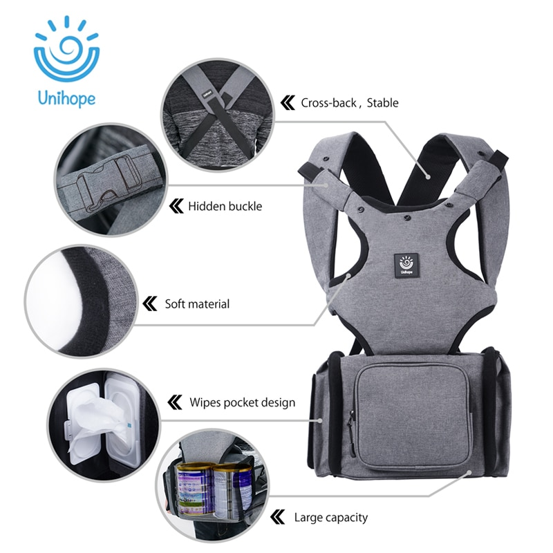 Bolsa ergonômica para transportar bebê, bolsa para transportar bebê, recém-nascidos, previne pernas arqueadas, bolsa canguru para bebê