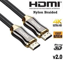 EastVita de aleación de Zinc de Cable HDMI Ultra HD 1,5/3/5/metros Cable HDMI V2.0 2K x 4K de alta velocidad + Ethernet HDTV