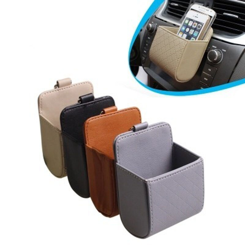 CHIZIYO Multi-funktion Gehängt Organizer Auto Outlet Leder Box Handy Bill Münze Fall Lagerung Tasche