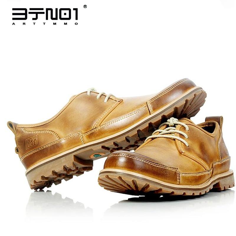رجل جلد طبيعي الدانتيل يصل جولة تو أوكسفورد رجل اليومية عادية Chukkas أحذية حذاء امن للعمل نونسليب
