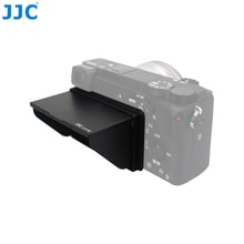 JJC LCD Pop-up Sombra Capa Case Protetor de Tela Capa para Sony A6100 A6600 A6500 A6300 A6000 ILCE-6300 ILCE-6000 Película de Proteção