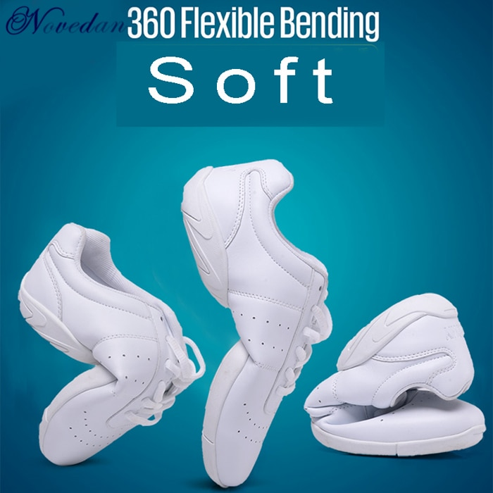 New Kids Girls White Sneakers Modern/Jazz/Hip Hop Dance Shoes Competitive Aerobics Shoes Soft Sole F