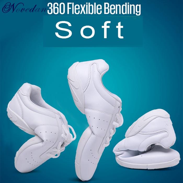 أحذية رياضية بيضاء للبنات ، أحذية رقص عصرية ، جاز ، هيب هوب ، أيروبيكس ، بنعل ناعم ، جديد