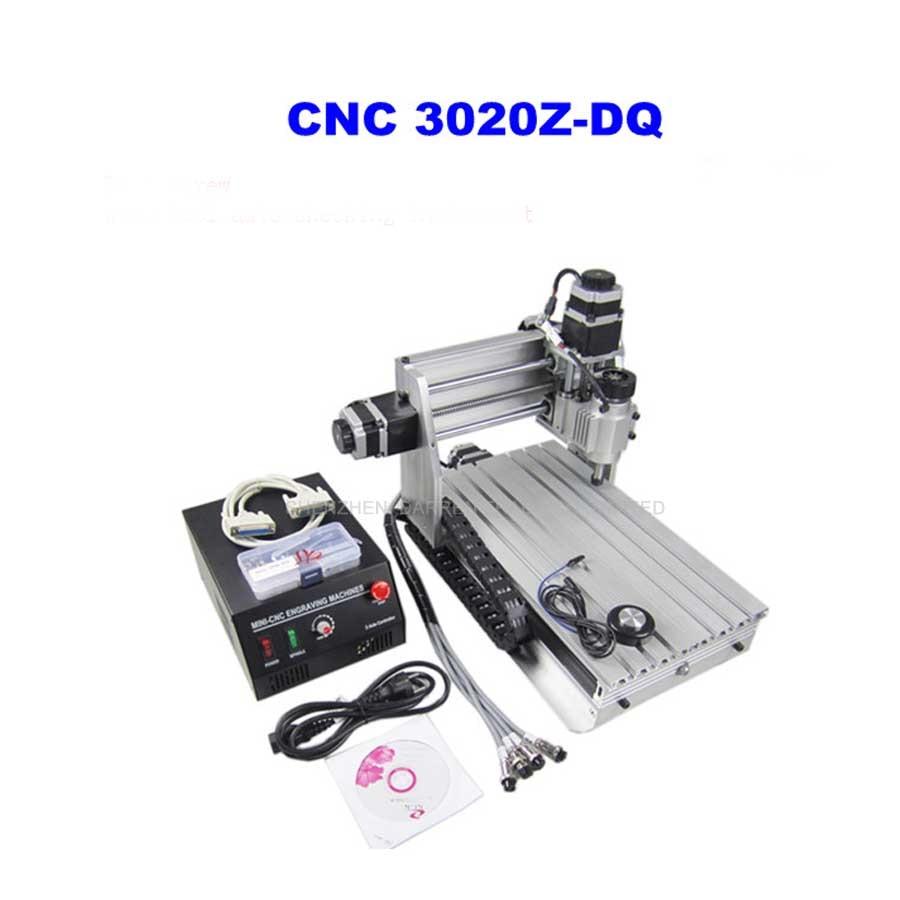 "3 Axis 3020Z-DQ CNC enrutador máquina de corte CNC 3020 con tornillo de bola + 20x3.175mm 1/8 ""cortador de carburo de tungsteno 1 pieza"