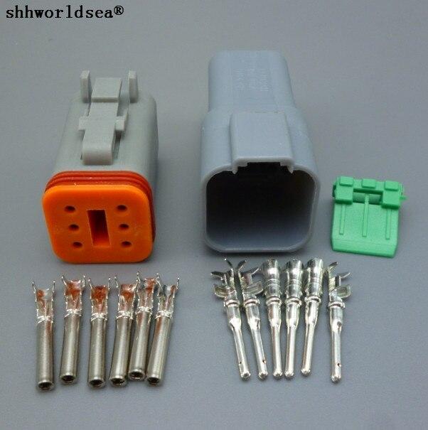 Shhworldsea, 1 Conjunto, 1,5mm, seis Pines, enchufe de conector automático macho y hembra para coches, DT06-6S impermeable, DT04-6P, nuevo