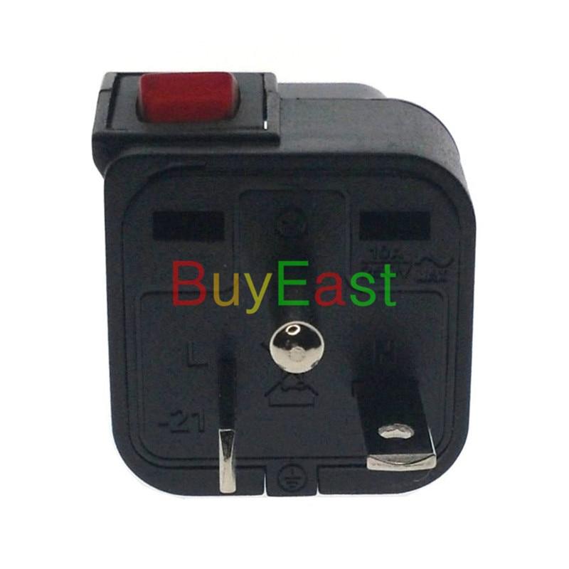 5 uds WONPRO América del Norte NEMA 6-20P 3 enchufe eléctrico de toma múltiple adaptador EU/UK/US/es con LED Mian interruptor