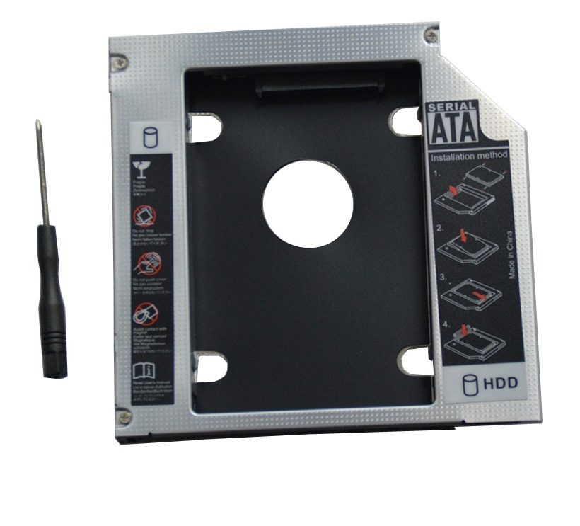 9.5mm para Dell Wzsm Novo Sata Disco Rígido Caddy Inspiron 14z 5423 15z 5523 15r 5537 5521 5721 2nd Hdd