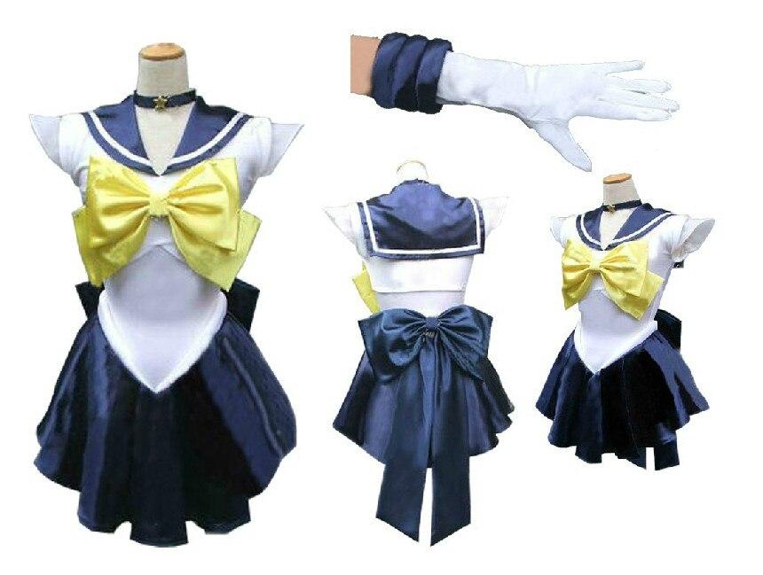 High Quality Customizable size Anime Sailor Moon Cos Tenoh Haruka Uranus Female Man Size Can be customized Cosplay Costume Sets