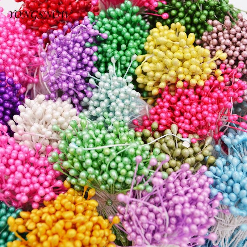 250pcs 3mm Mini Flower Stamen Handmade Artificial Stamen Flowers for Wedding Home Decoration DIY Scrapbook Craft 7z