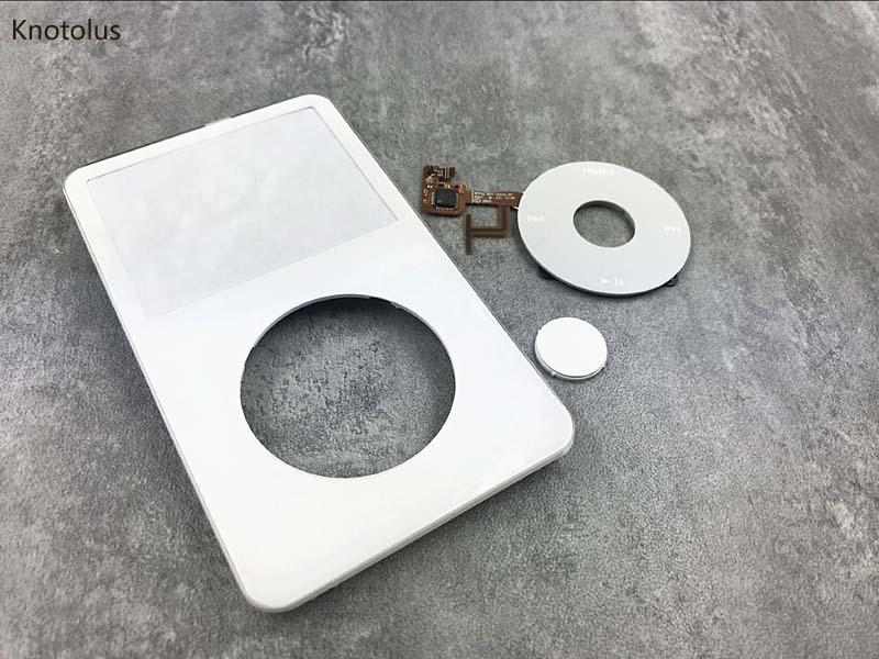 Knotolus blanco frontal funda carcasa cubierta clic rueda botón central blanco para iPod 5th gen video 30gb 60gb 80gb