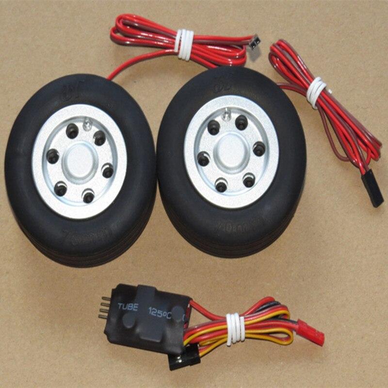 Modelo RC, rueda de freno JP de 45mm, 50mm, 55mm, 60mm, 65mm, 70mm, 75mm, 86mm y 95mm para tren de aterrizaje de ala fija