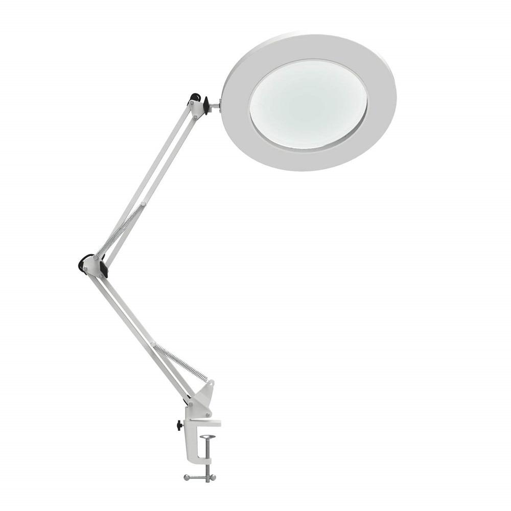 "LED Magnifying Table Lamp Metal Clamp Swing Arm Desk Lamp Stepless Dimming 3Colors , 7W Magnifier LED lamp 3X,4.1""Diameter Lens"
