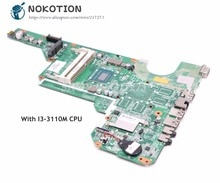 Nokotion hp 파빌리온 g6 용 노트북 마더 보드 G6-2000 메인 보드 I3-3110M cpu ddr3 710873-001 710873-501