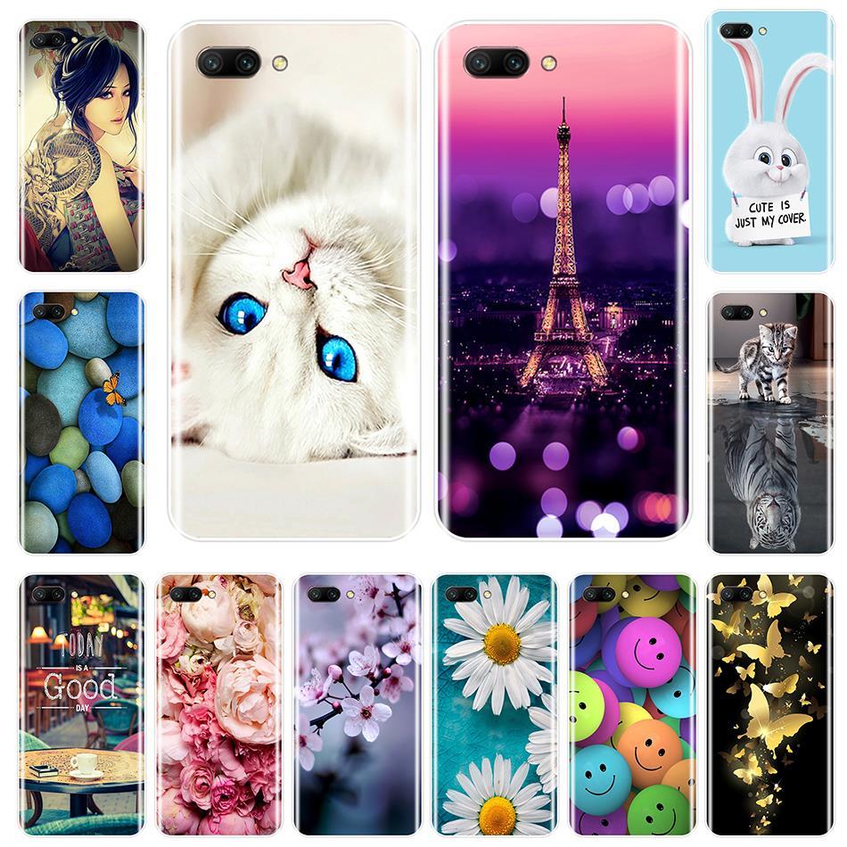 Funda trasera para Huawei Honor 7 8 9 10 Lite suave silicona animales lindos funda de teléfono para Huawei Honor 7 7S 7X 7A 7C Pro 8X MAX 10 9 8