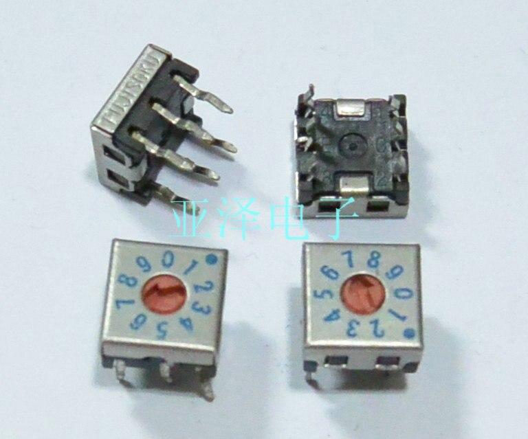 Fuji japonés FUJISOKU 0-9/10 7,5  u0026 veces; interruptor de código rotatorio DIP 7,5 DRS7110C invertido
