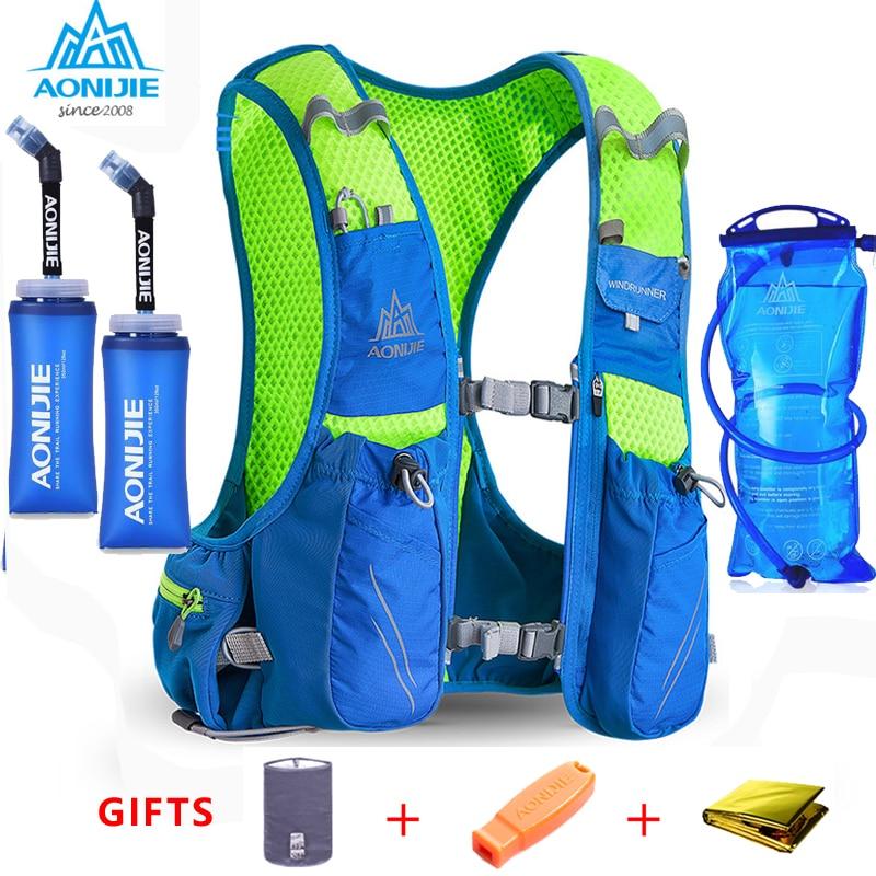 2018 AONIJIE E904S Nylon 10L bolsas al aire libre senderismo mochila chaleco profesional maratón Running ciclismo mochila para 1,5 l bolsa de agua