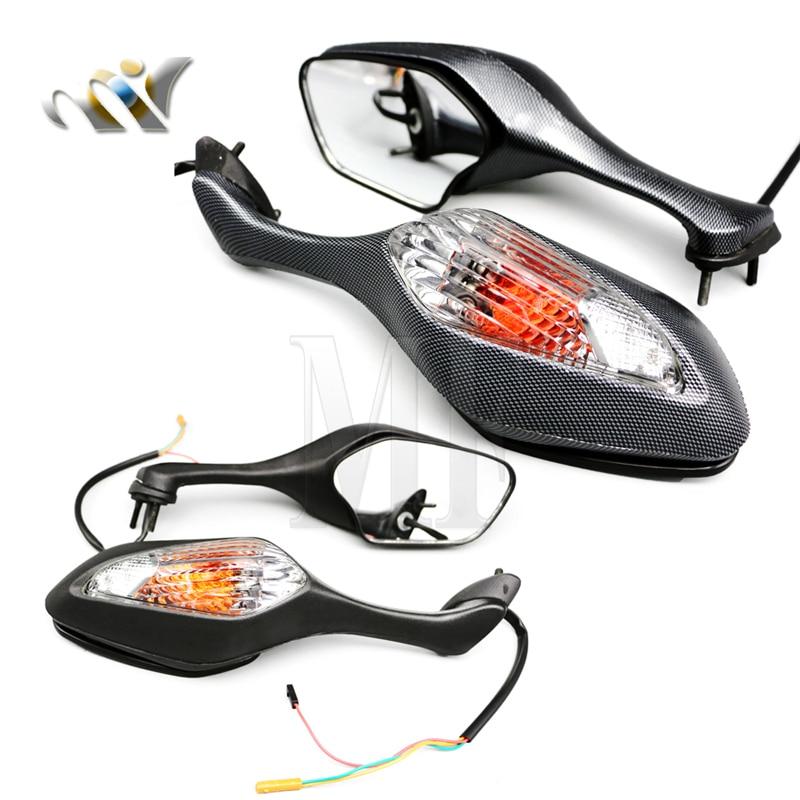 Боковые светодиодные зеркала заднего вида для мотоцикла 2008-2013 Honda CBR1000RR CBR 1000RR 2010-2012 VFR1200 VFR 1200, пара