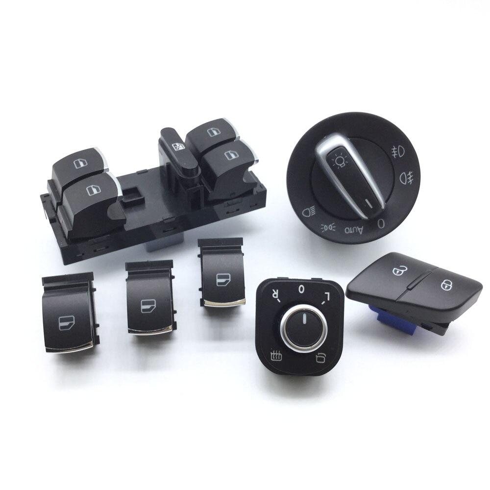 5K4959857,5K0959855,5ND959565A,3C8941431A,3C0962125B Window headlight mirror lock /unlock switchswitch for VW Passat b6 / 3c