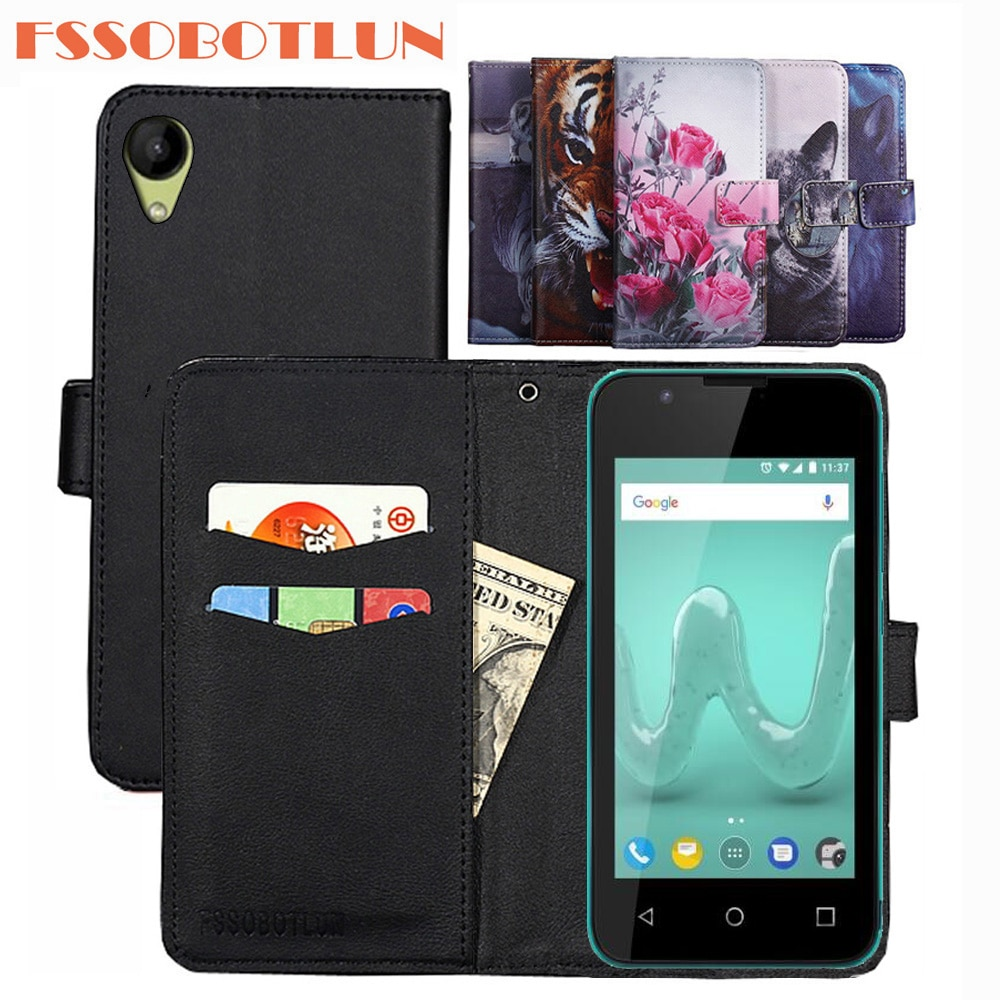 FSSOBOTLUN 9 Colors For Wiko Sunny2 Case PU Leather Retro Flip Cover Shell Magnetic Fashion Wallet C
