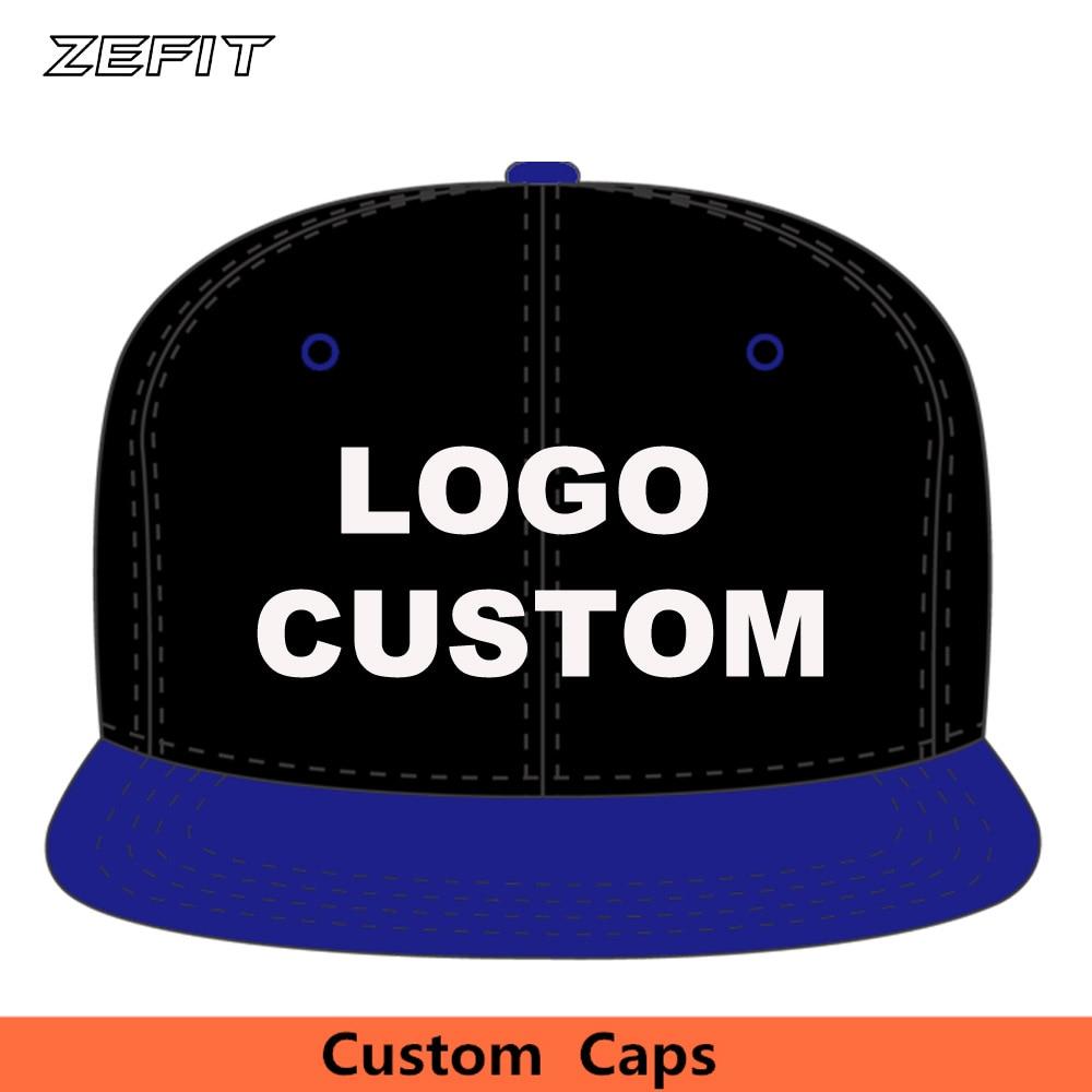 Custom Baseball Caps Two-Tone Acrylic customize 6 panels OEM Raised Embroidery 3D Printing Logo Flat Brim Tennis Adult Kids Hats