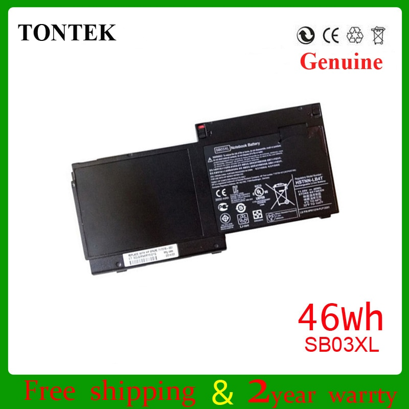 46wh SB03XL laptop battery for HP EliteBook 820 720 725 G1 G2 HSTNN-LB4T 46WH 11.1V